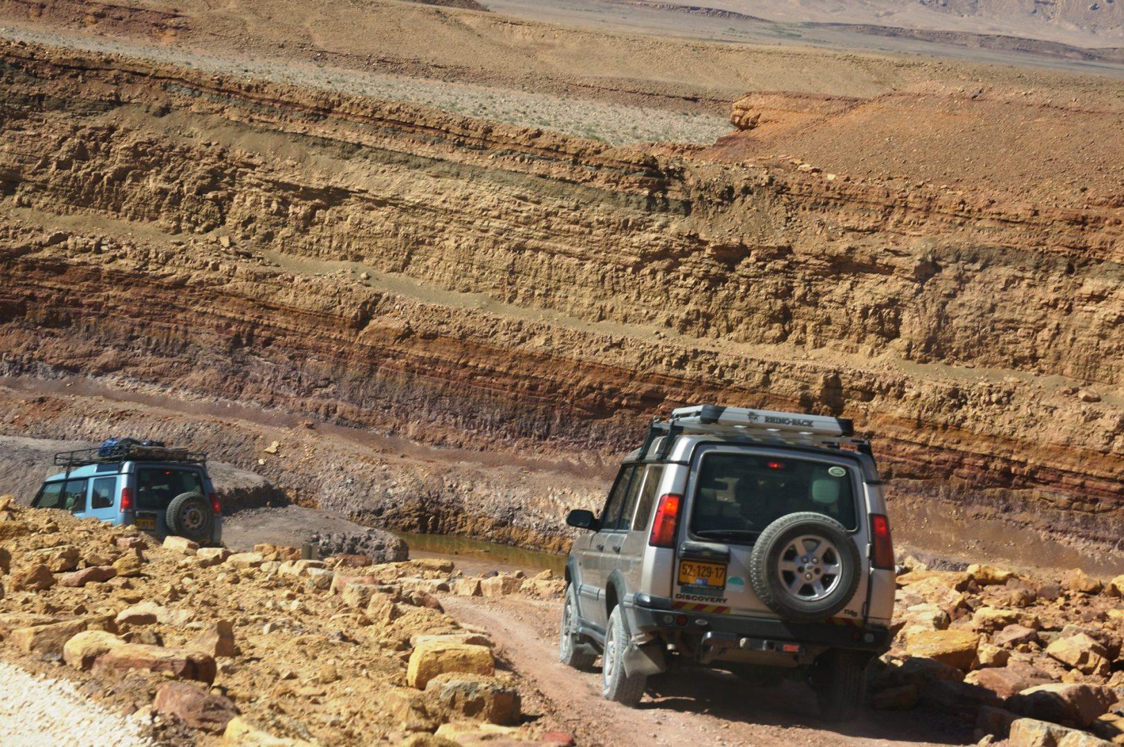 טיול ג׳יפים מחצבות מצפה רמון