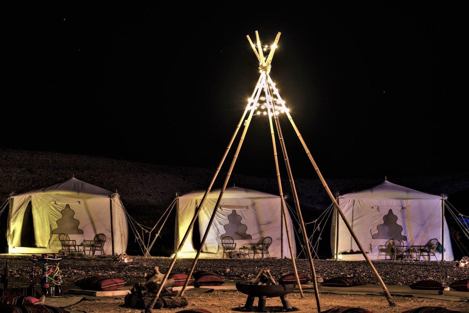 מחנה יוקרתי מצפה רמון