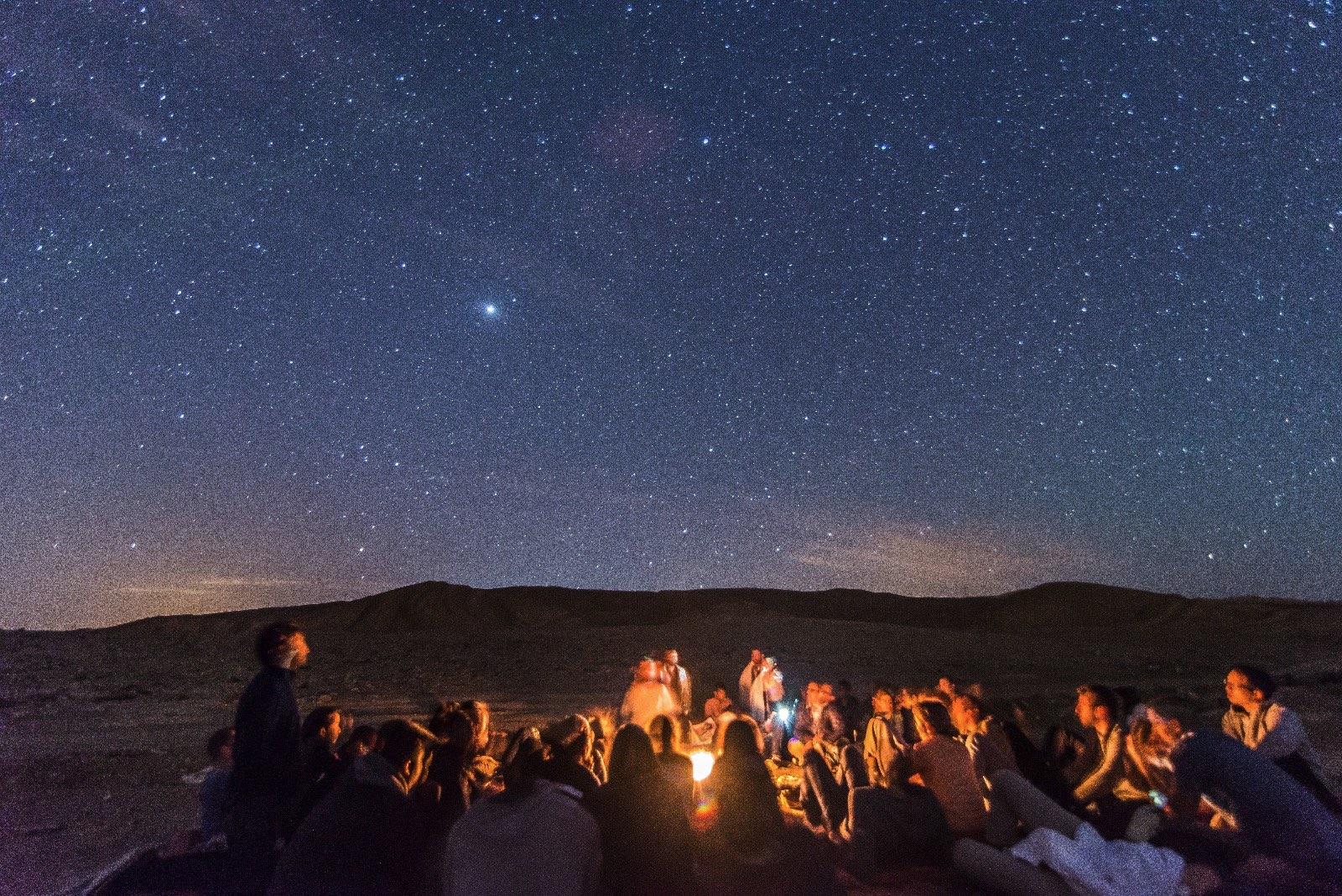 תצפית כוכבים לקבוצות במצפה רמון